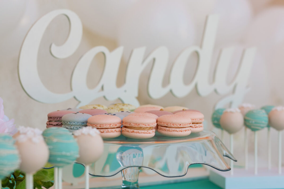 Candy Bar mit Macarons